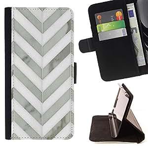 For LG G4 Case , Modelo de Chevron Blanco Gris Metal 3D- la tarjeta de Crédito Slots PU Funda de cuero Monedero caso cubierta de piel