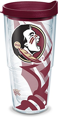 Tervis 1289205 NCAA Florida State Seminoles Tumbler with Lid, 24 oz, Clear ()