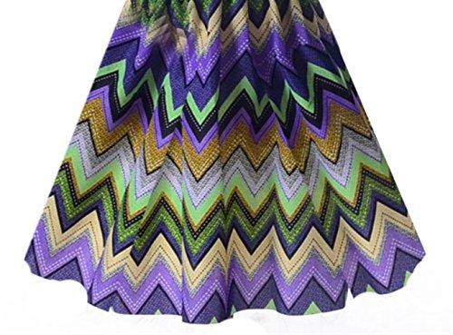 Robe et en Manches Longue Mousseline Longues en Robe col Weekendy et Multicolore Courtes Floral Rond Jersey Manches dxYv7WCnqw