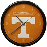The Memory Company NCAA University of Tennessee, Knoxville Official Black Rim Basic Clock, Multicolor, One Size