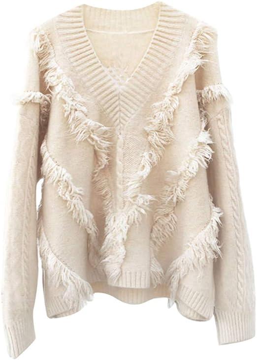 Deman outfit-Artistic9 - Jersey para Mujer, con Flecos y Escote ...