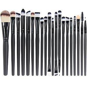 EmaxDesign 20 Pieces Makeup Brush Set Professional Face Eye Shadow Eyeliner Foundation Blush Lip Makeup Brushes Powder Liquid Cream Cosmetics Blending Brush Tool