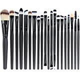 EmaxDesign 20 Pieces Makeup Brush Set Professional Face Eye Shadow Eyeliner Foundation Blush Lip Makeup Brushes Powder Liquid Cream Cosmetics Blending Brush Tool