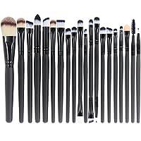 EmaxDesign Set de 20 pinceles de maquillaje Profesional Cara Sombra de ojos Delineador de ojos Base de maquillaje Pinceles de maquillaje de labios Líquido Crema Líquida Cosméticos Pincel de mezcla Herramienta