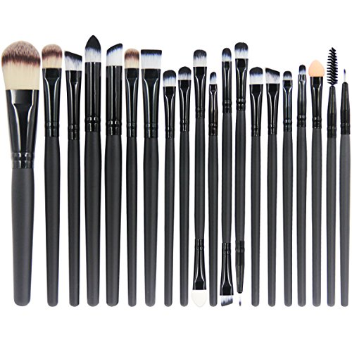 (EmaxDesign 20 Pieces Makeup Brush Set Professional Face Eye Shadow Eyeliner Foundation Blush Lip Makeup Brushes Powder Liquid Cream Cosmetics Blending Brush)