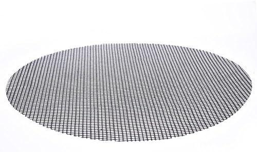 precauti Tapis de Gril en Forme de Grille Ronde en Forme de Grille de Barbecue Tapis de Gril antiadhésif pour Fours d'extérieur Grill
