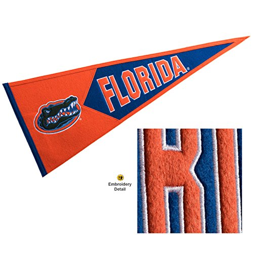 Florida Gators Wool Embroidered and Sewn Pennant