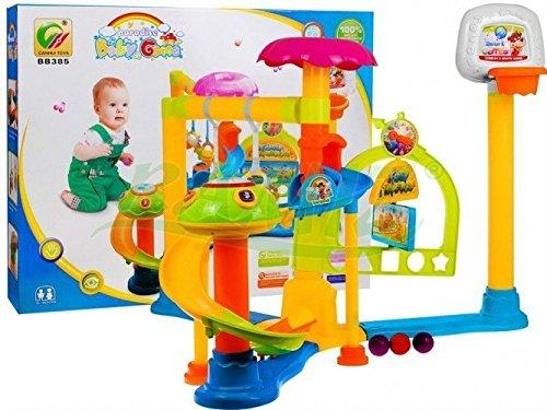 Baby Spielplatz BB385 Basketball / Kugelbahn - Kleinkindspielzeug - Motorikspielzeug
