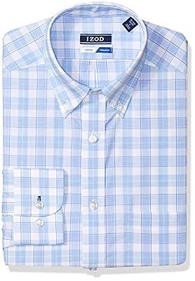 IZOD Men's Dress Shirts Regular Fit Stretch Large Plaid