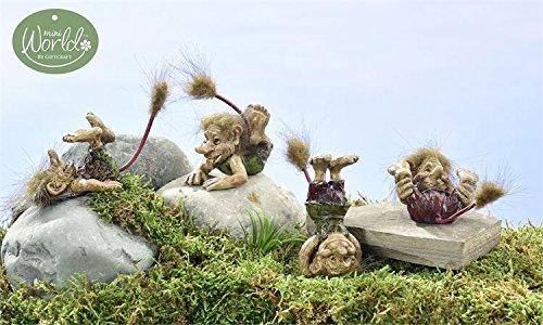 (Miniature Fairy Garden Viking Village Playful Trolls - Set of 4)