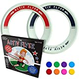 Best Kid's Frisbee Rings [2 PACK] Fly Straight & Don't Hurt - 80%