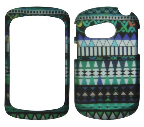 2D Blue Tribal Pantech Swift P6020 slider AT&T Case Cover Hard Phone Case Snap-on Cover Rubberized Touch Protector Cases