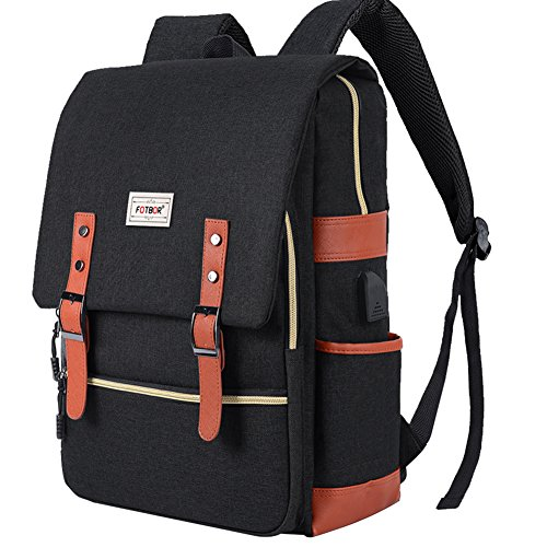 NOKEA Slim Travel Laptop Backpack With USB Charging Port, Anti Theft Business Water Resistant College School BookBag Computer Bag for Girls and Boys Fits 15.6 In Laptop, Macbook ()