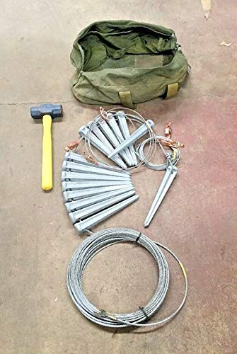 Cable Perimeter (Lay Wire Perimeter Laywire Grounded Security Kit Field Cable Stakes)