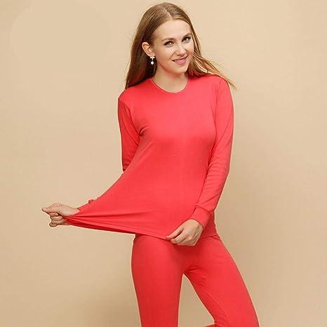 Camiseta Interior Termica Mujer Long Johns para Mujer Ropa Interior Térmica De Invierno Traje Modal Grueso Ropa Interior Térmica Cálida para Mujer Unisex: Amazon.es: Deportes y aire libre