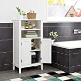 Homfa Bathroom Floor Cabinet Wooden Storage