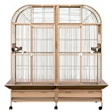 KING'S CAGES Superior Line SLT 6432 PARROT CAGE 64X32X70 Extra Large Bird Cage toy toys macaws,cockatoos (SANDSTONE)