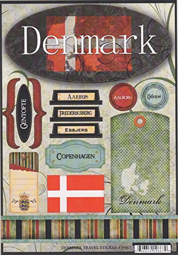 Denmark World Travel Cardstock Scrapbook Stickers (19867)