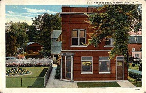 First National Bank Whitney Point  New York Original Vintage Postcard