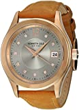 Kenneth Cole New York Women's 'Classic' Quartz Stainless Steel and Leather Dress Watch, Color:Brown (Model: 10030801)