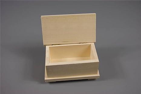 Caja de almacenamiento de joyas de madera Plain adorno de manualidades (psgk18) para Collage