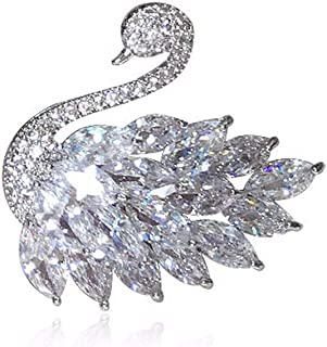 Brightness Uique Design Elegant brooches Zircon, swan Brooch, Boutonniere, Female, Coat pin, Cardigan Shawl Buckle, Autumn and Winter Coat Accessories