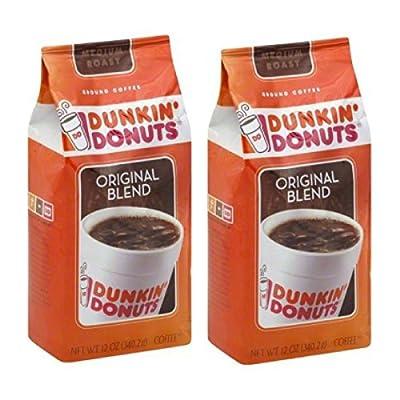 Dunkin' Donuts Original Blend Medium Roast Ground Coffee, 12 oz - 2 Pack