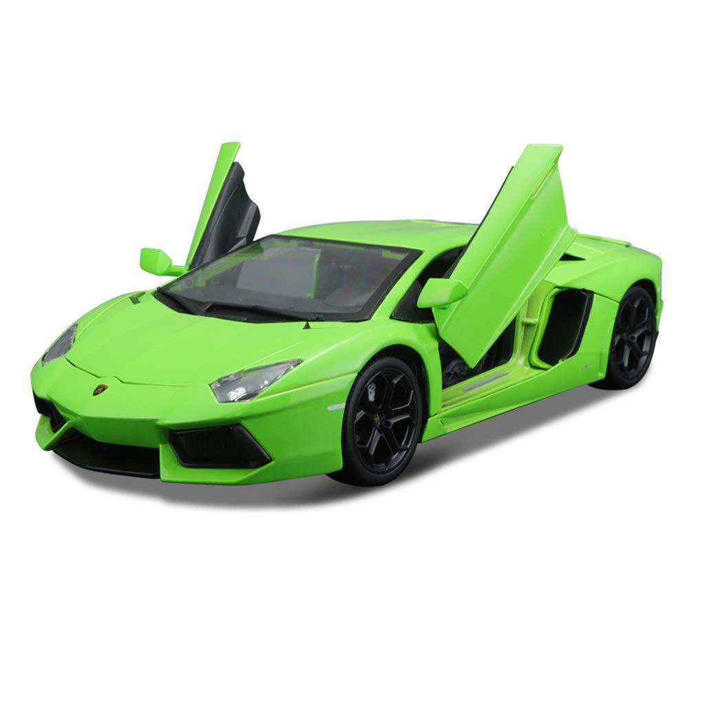 Auto Modello Modello di Auto Sportiva Lamborghini Aventador Modello in Scala 1 18 Modello di pressofusione Modello statico Collezione Ornamenti Regali ( Colore   verde )