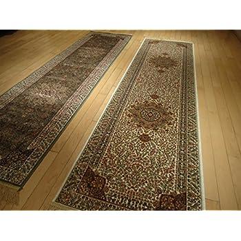 This Item Silk Cream Rug Persian Tabriz Rugs Long 2x12 Hallway Runner Ivory Runners  Rugs Floor Long Carpet Area Rugs Luxury Narrow Hallway Rug (2u0027x12u0027 ...