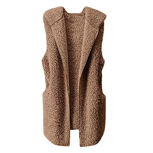 HYIRI Womens Vest Winter Warm Hoodie Outwear Casual Coat Sherpa Jacket