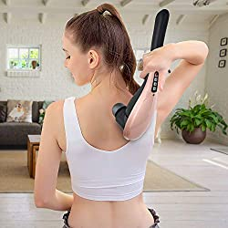 OVELY Handheld Massager - Neck and Back, Shoulder, Leg and Foot Massage Full Cordless Deep Tissue Body Massage for Cellulite, Muscle Pain Relief - Powerful Portable, Rechargeable, Electric Machine