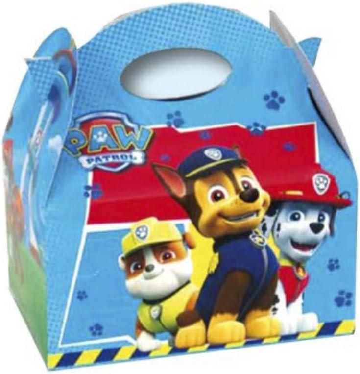 CAPRILO Lote de 24 Cajas de Cartón Infantiles Patrulla Canina para Caramelos, Golosinas y Dulces Fiesta. Complementos. Juguetes para Fiestas de Cumpleaños, Bodas, Bautizos y Comuniones.