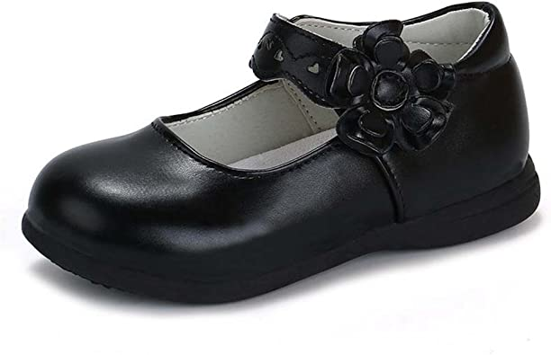 F-OXMY Girls Bowknot Mary Jane Shoes Cute Comfort Ballet Flat Shoes with Ankle Strap Toddler//Little Kid