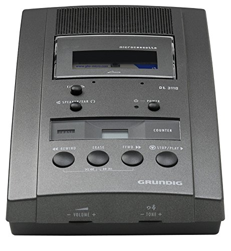 Grundig Dt 3110 Microcassette Desktop Dictation and Transcription Machine (Grundig Machine Desktop Dictation)