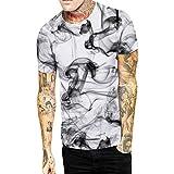 Hot Mens 3D Print Summer Short Sleeve Casual Slim Fit T-Shirts Graphic Tee Shirt Tronet Mens Summer t Shirts Short Sleeve