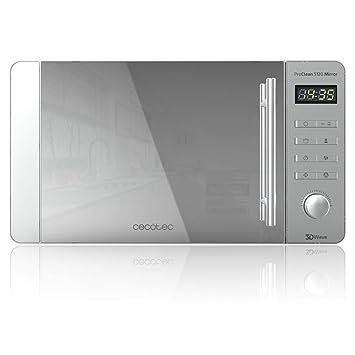 Cecotec ProClean 5120 - Microondas Acero Inoxidable ProClean 5120 con grill Mirror con Revestimiento Ready2Clean mejor Limpieza, Tecnología 3DWave, ...