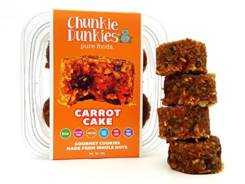 Chunkie Dunkies RAW VEGAN Carrot Cake Cookies 4 Packs (16 oz)