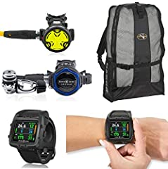 Mares Smart Air Wrist Computer with LED Transmitter: The Mares Smart Air Dive Computer is a compact watch sized air integrated dive computer. Light weight and sporty the Smart Air is made for the active user reasonable priced. On top of all o...