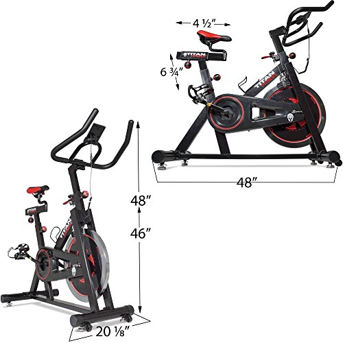 Titan Pro Indoor Exercise Bike w/ 40 lb Flywheel LCD Cycle Cardio Fitness by Titan Fitness (Image #1)