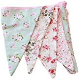 Carousel Home and Garden West5Products English Vintage Floral Design Party Bunting (3 Meters)