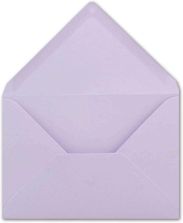 color 55-Mintgr/ün 50 Umschl/äge con banda adhesiva de FarbenFroh Sobres de colores DIN-C6 162 x 114/mm