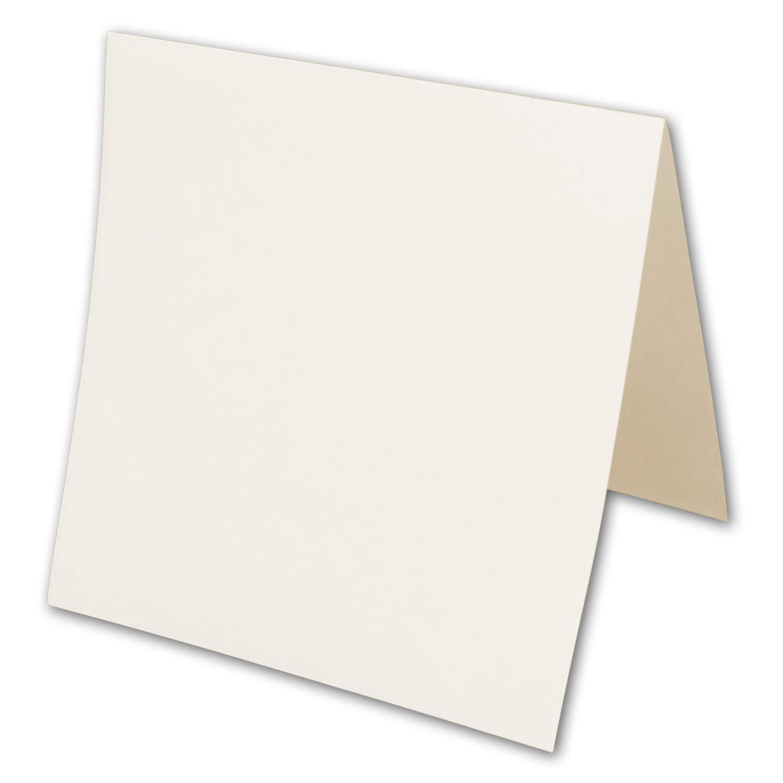 150x quadratische Einlege-Blätter, Creme - 13 x 13 cm, Doppel-Einleger ungefaltet - für Drucker geeignet - ideal für quadratische Doppel-Karten B07KFK64V2 | Exzellente Verarbeitung