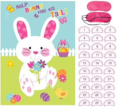 Pin The Tail On The Rabbit Bunny Child Kid Easter Egg Hunt Party Family Game