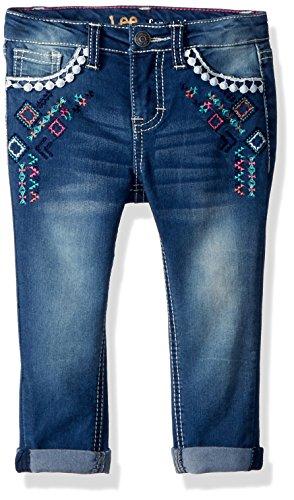 LEE Girls' Toddler Fashion Skinny Crop Jean, Light