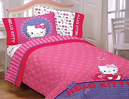 Genial Hello Kitty Sheet Set: Twin