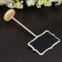 Zorpia® Mini Chalkboard Tag with Stand for Wedding and Party Table Markers Plant Markers Party Favors, Rectangle, Set of 12 by Zorpia