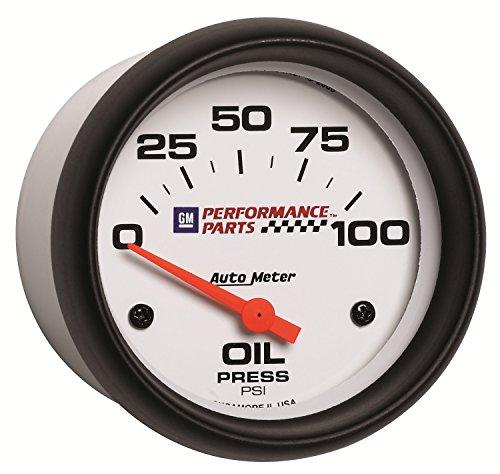 Auto Meter 5827-00407 GM Performance Parts 2-5/8″ 0-100 PSI Electric Oil Pressure Gauge