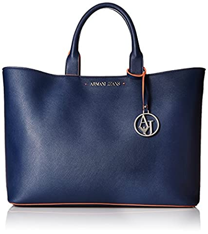 Armani Jeans Eco Saffiano East West Tote with Pouch and