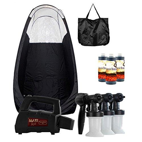 MaxiMist SprayMate TNT HVLP Spray Tan System with Pop Up Tan Tent Black by MaxiMist