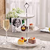 Lucrative shop 3 Layers Cake Stand Rod Kitchen accessaries Stainless Steel Silver Cake Plate Stand